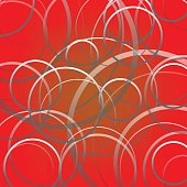 abstract cycle line on red background