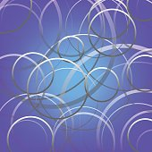 abstract cycle line on violet background