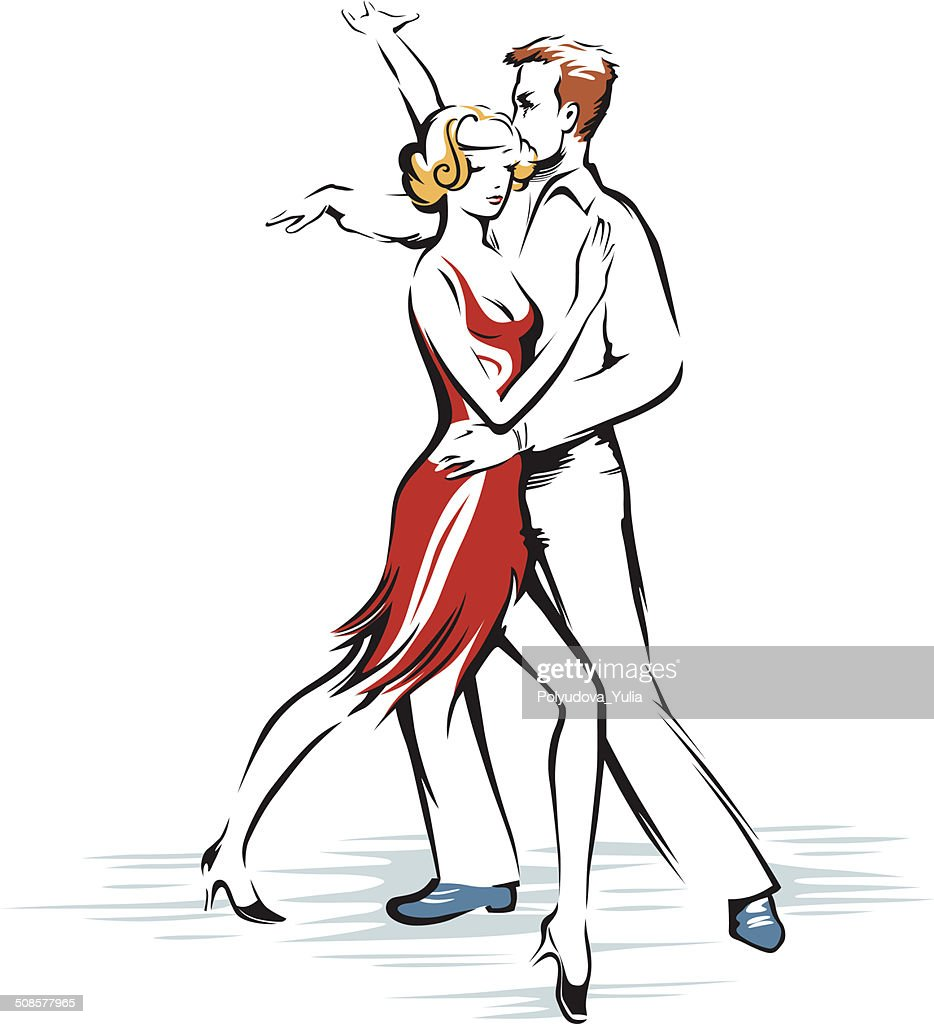 Abstract dancing couple : Vector Art