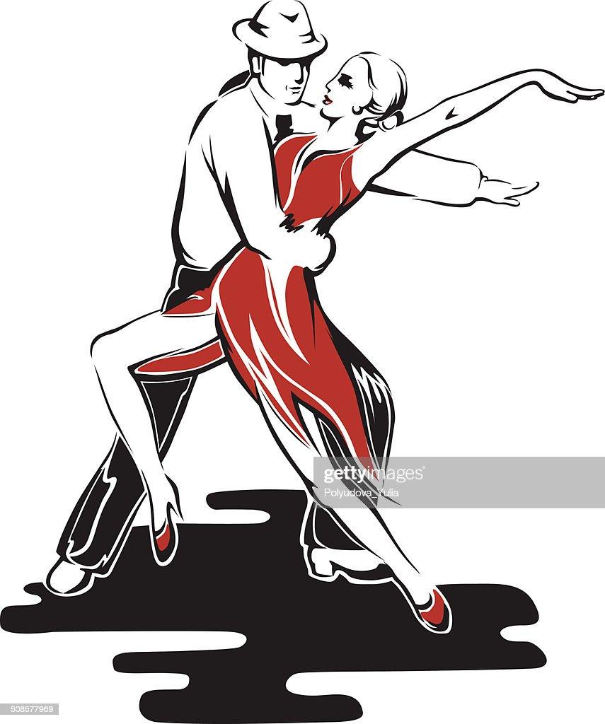 Abstract dancing couple : Vectorkunst