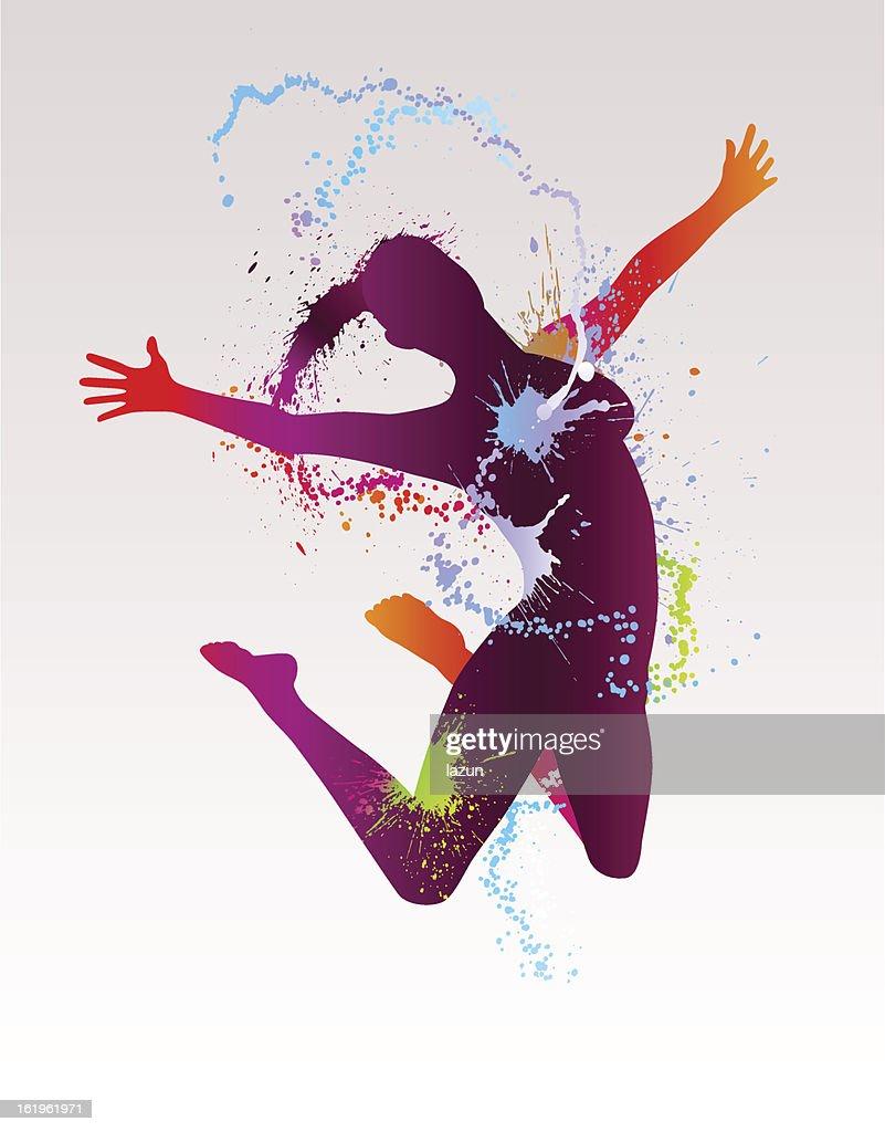 Abstract Dancing Girl
