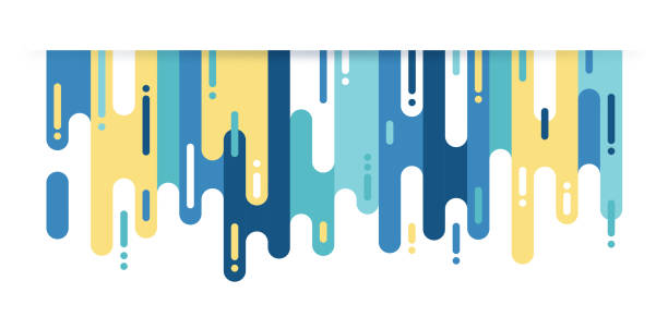 abstract dash color background - melting stock illustrations