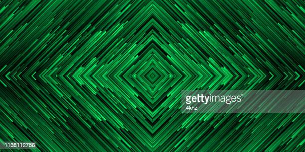 abstract data binary code beams space art green background - symmetry stock illustrations
