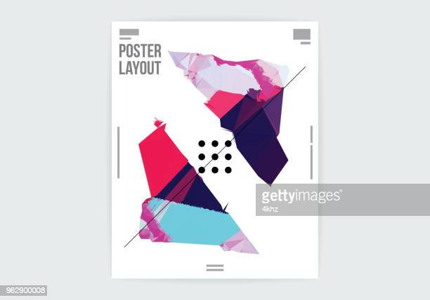 abstract deformed shape graphic design poster layout template - artistic product stock illustrations