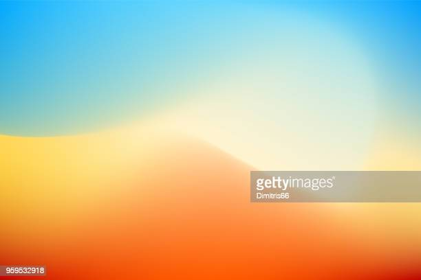abstract desert background - colour gradient stock illustrations