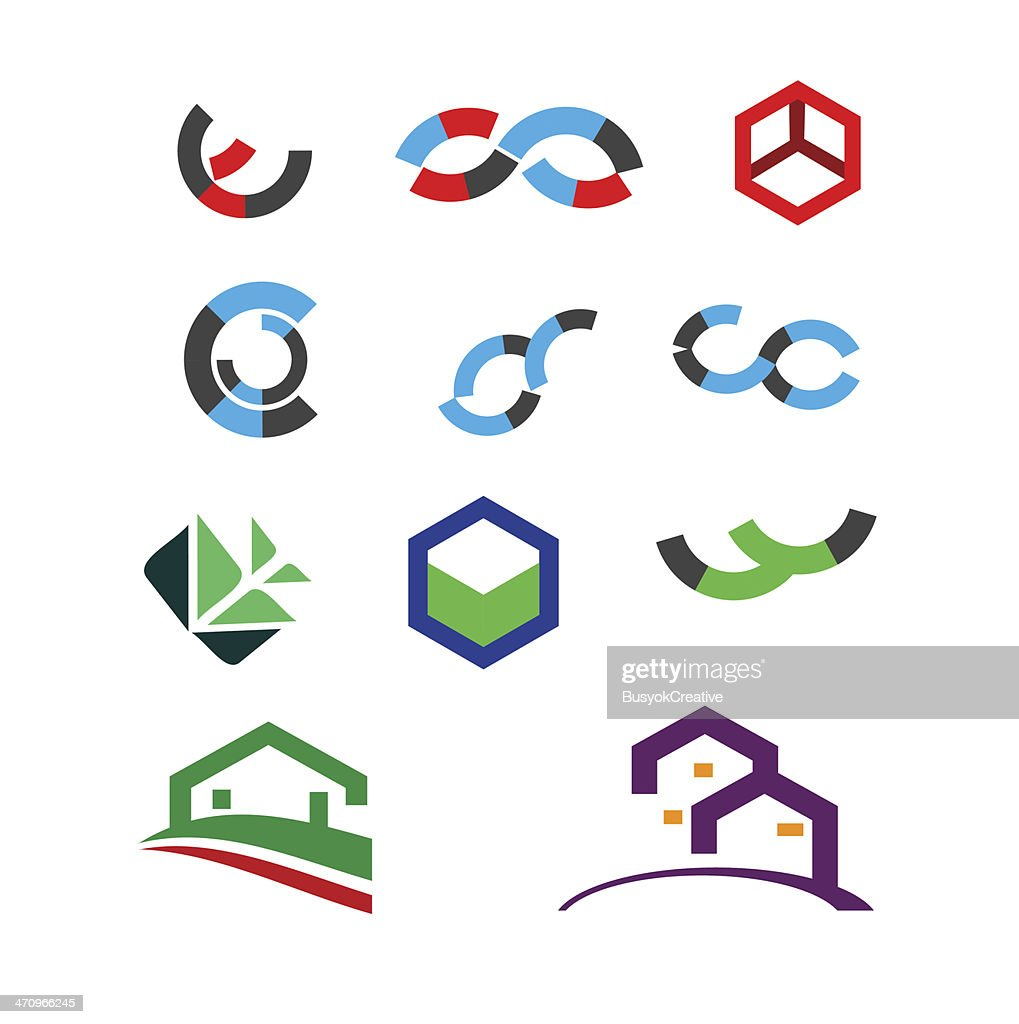 Abstract design elements and icons