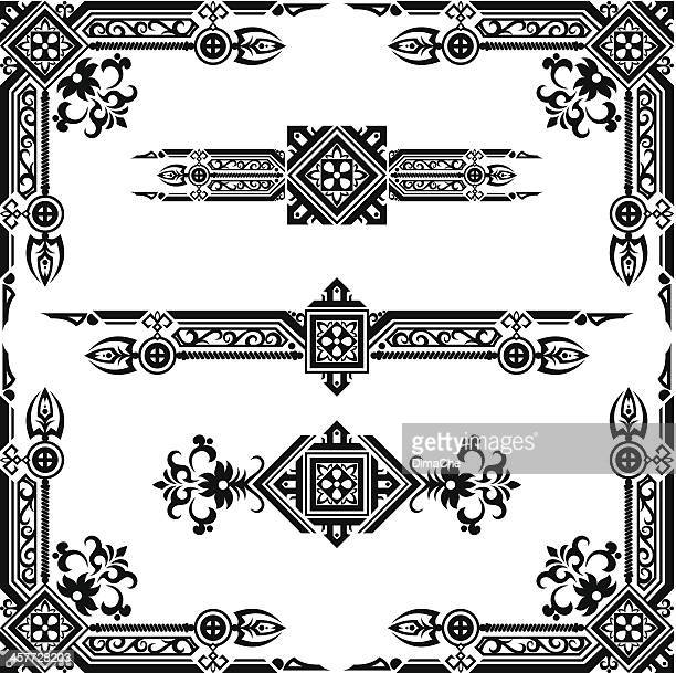 abstract design elements - gothic style stock illustrations, clip art, cartoons, & icons