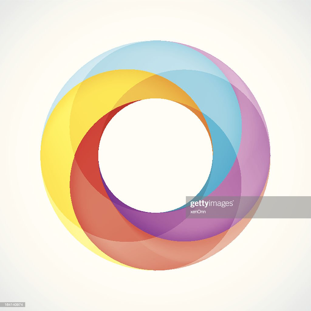 Abstract Design Logo Element: Twisted circles with 4 pieces