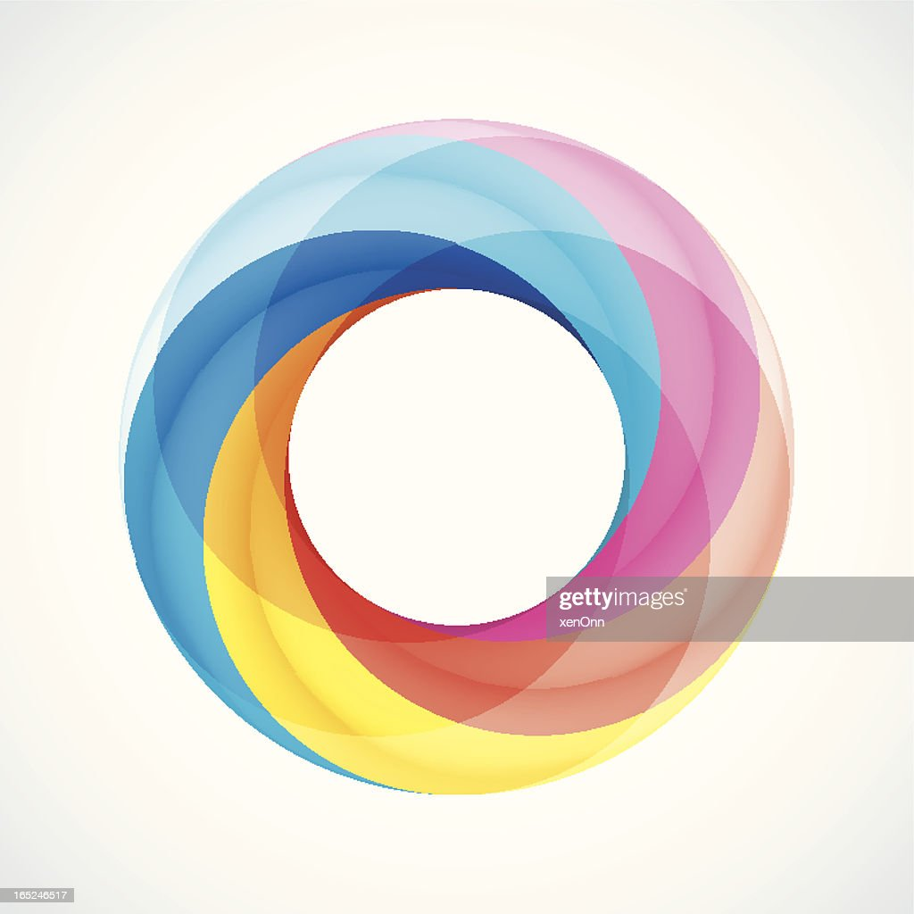 Abstract Design Logo Element: Twisted circles with 5 pieces