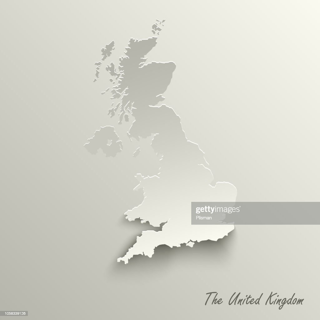 Abstract design map the United Kingdom template