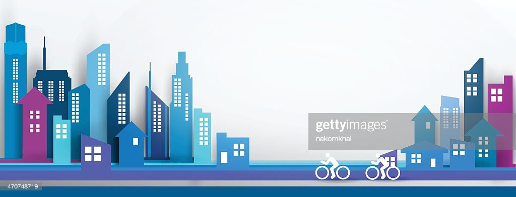 Abstract design of a city scene