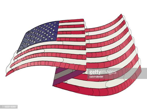 abstract design of the united states of america flag - bill of rights stock illustrations