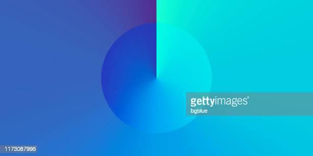 青のグラデーションカラーを持つ抽象的なデザイン - トレンディな背景 - 美術品点のイラスト素材/クリップアート素材/マンガ素材/アイコン素材