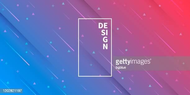 幾何学的形状を持つ抽象的なデザイン - トレンディブルーグラデーション - ピンクの背景点のイラスト素材/クリップアート素材/マンガ素材/アイコン素材