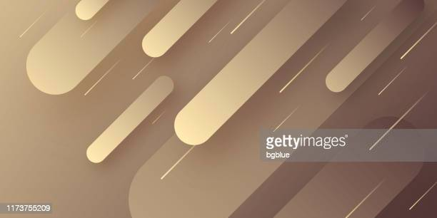 abstract design with geometric shapes - trendy brown gradient - brown background stock illustrations