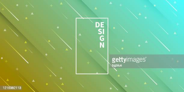 abstract design with geometric shapes - trendy green gradient - meteor shower stock illustrations