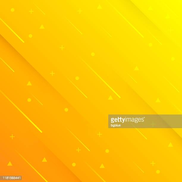 abstract design with geometric shapes - trendy orange gradient - meteor shower stock illustrations