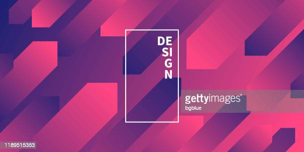 abstract design with geometric shapes - trendy purple gradient - tilt stock illustrations