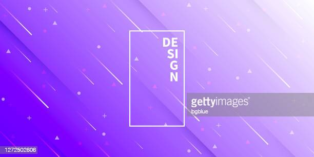 abstract design with geometric shapes - trendy purple gradient - purple background stock illustrations