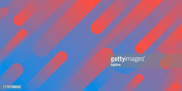 abstract design with geometric shapes - trendy red gradient - red and blue background stock illustrations