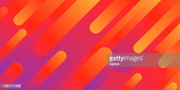 abstract design with geometric shapes - trendy red gradient - orange background stock illustrations