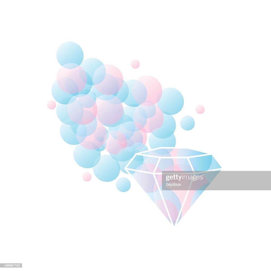 Abstract diamond shaped