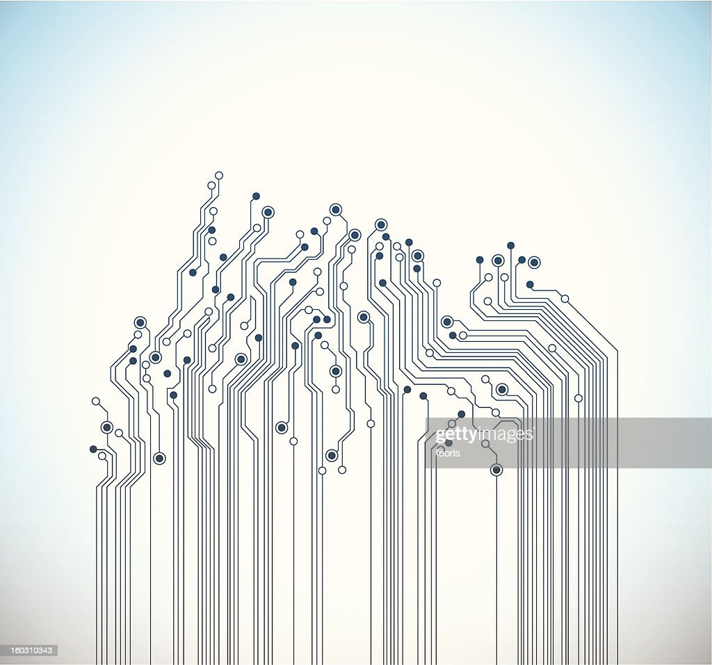 Abstract digital circuit background - vector
