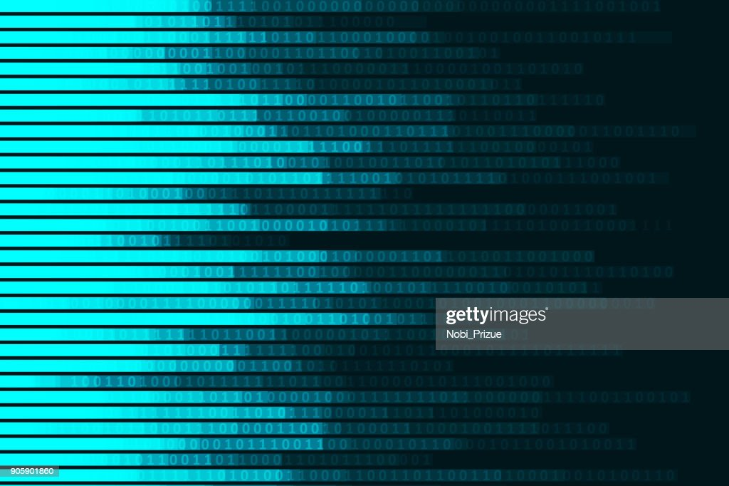Abstract digital code visualization