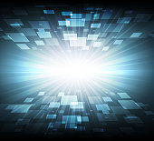 Abstract digital cyberspace background