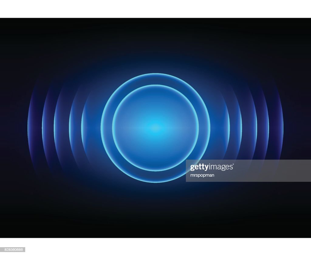 abstract digital sound wave blue light background