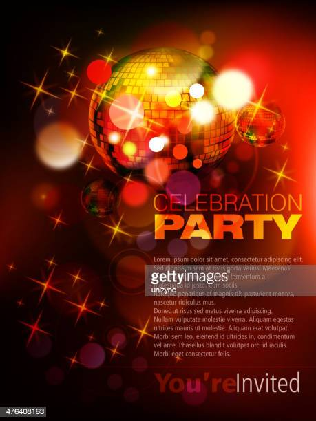 Abstract Disco Background with Defocused Lights