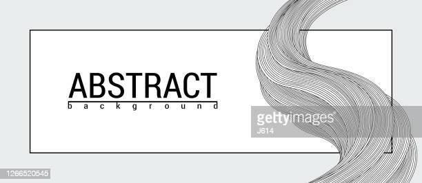 illustrazioni stock, clip art, cartoni animati e icone di tendenza di sfondo banner doodle astratto - capelli o peli