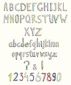 Abstract doodle font
