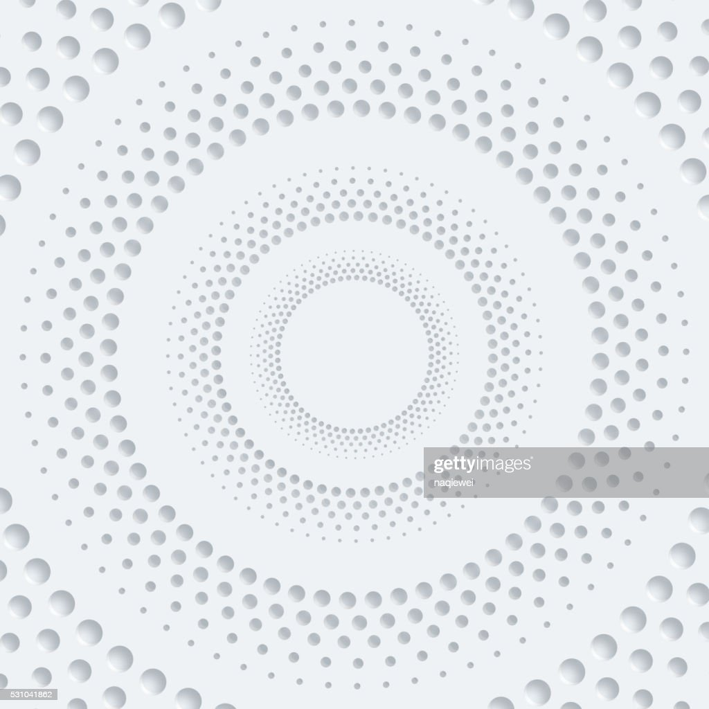 3D abstract dots circle pattern background