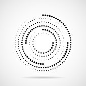 Abstract dotted circles. Dots in circular form