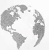 Abstract dotted globe earth. Vector illustration