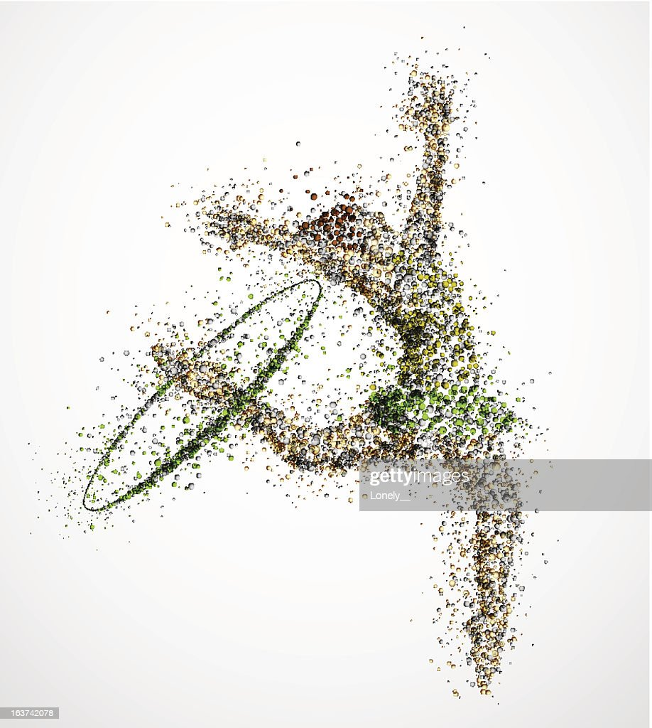Abstract drawing of ballerina against white background