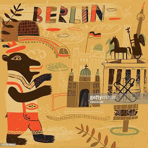 Abstract drawing representing Berlin, Germany