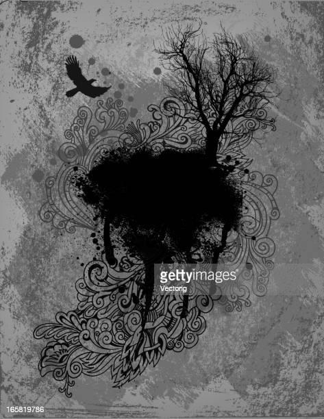 Corvo e albero