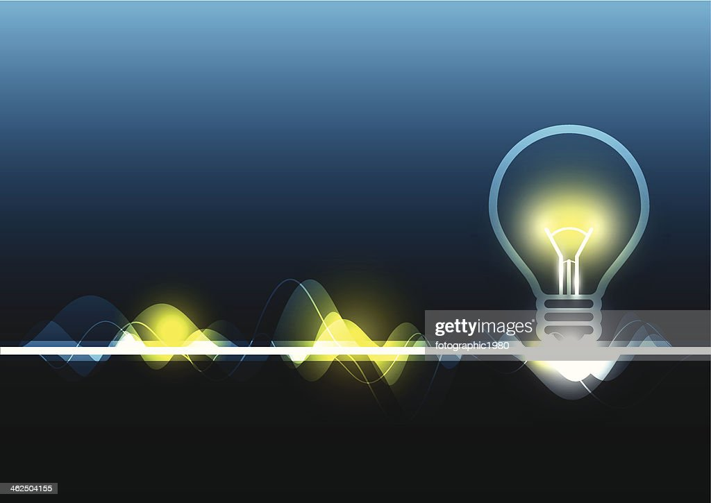 abstract electricity and light bulb