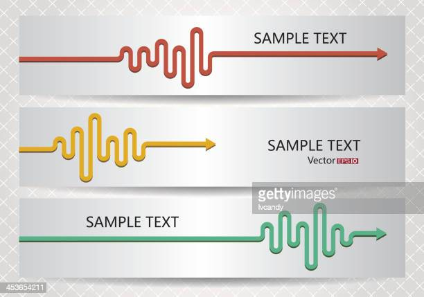 abstract electrocardiogram arrows - listening to heartbeat stock illustrations, clip art, cartoons, & icons