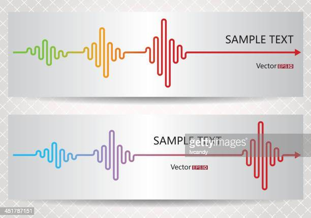 abstract electrocardiogram - listening to heartbeat stock illustrations, clip art, cartoons, & icons
