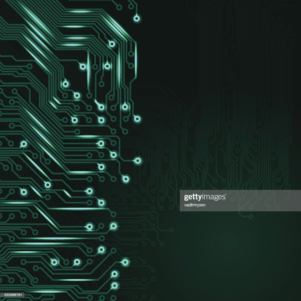Abstract Electronics Blue Background With Circuit Board Texture ...