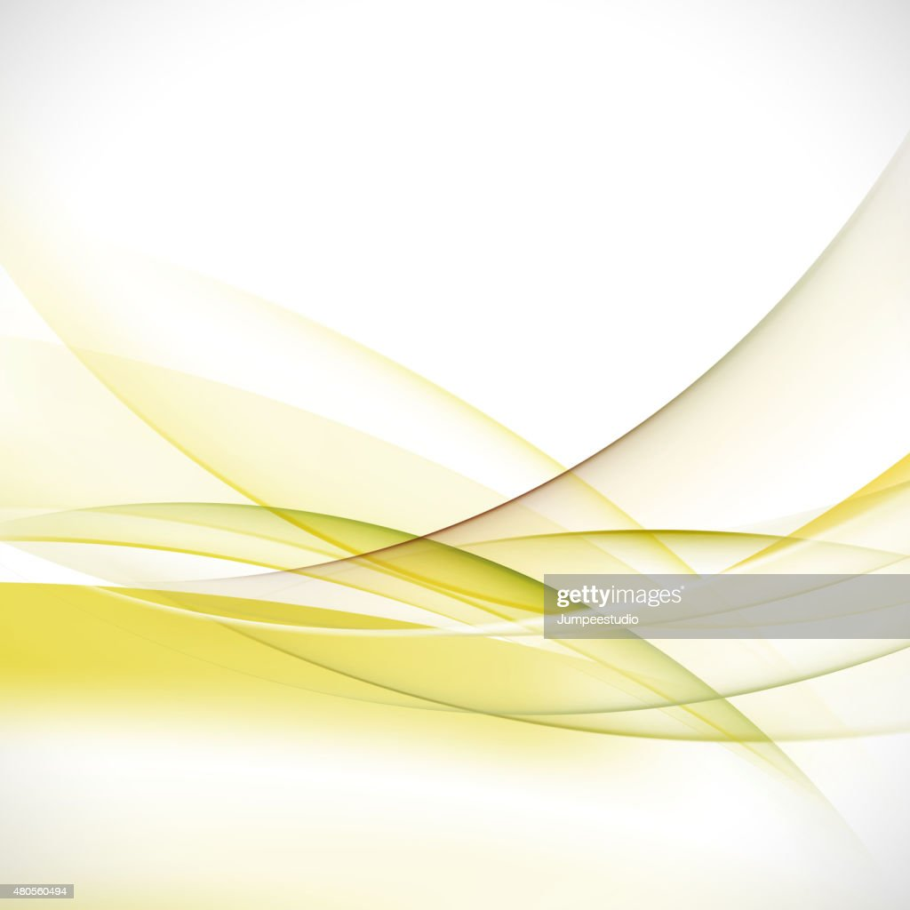 abstract elegant green wave background, vector illustration : Vector Art