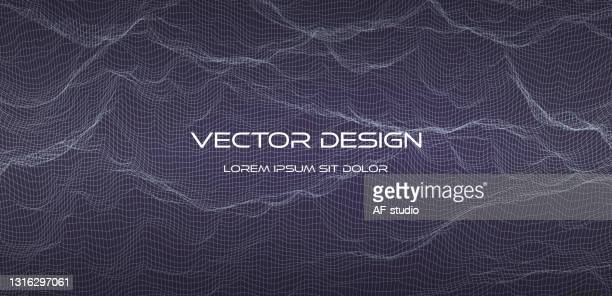 abstract empty background. wireframe illustration. 3d grid design - af-studio stock illustrations