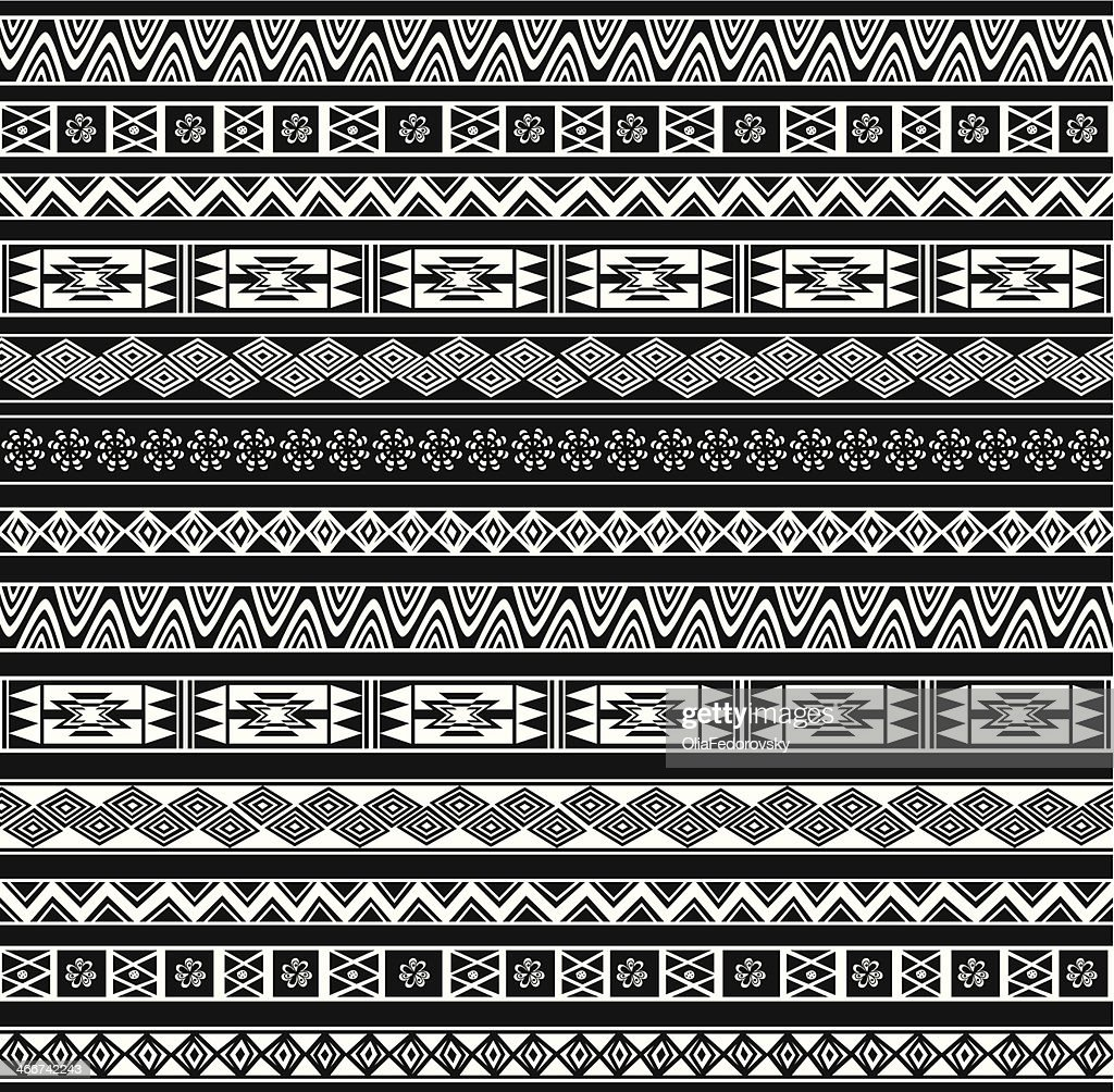 Abstract Ethnic Seamless Geometric Pattern.