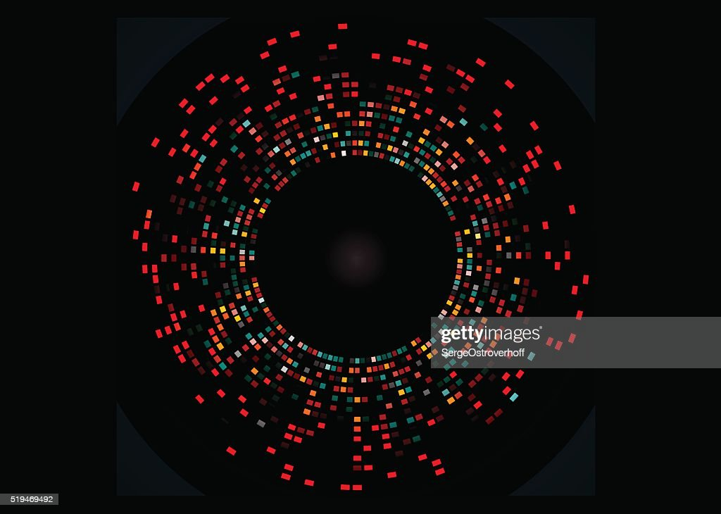 Abstract example of DNA fingerprinting