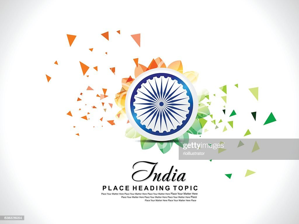 abstract exploded indian republic day background with floral