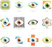 Abstract Eye Icons
