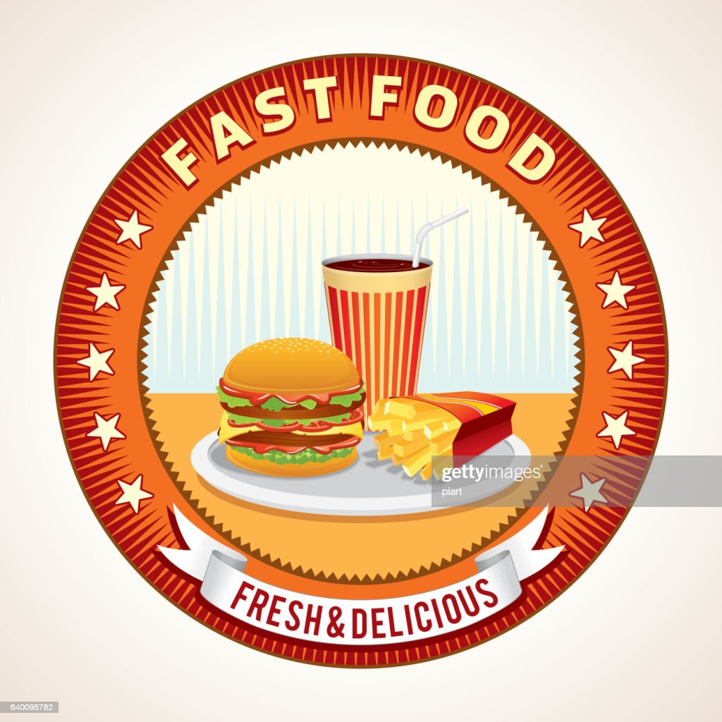 Abstract Fast Food Retro Icon